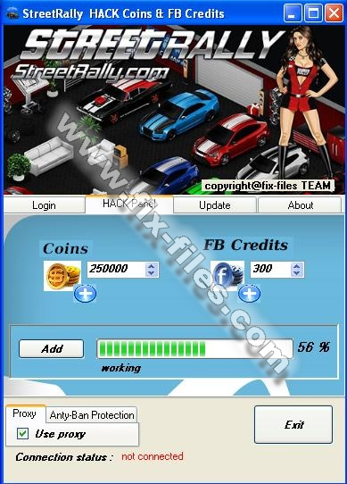 streetrally hack coins fb credits