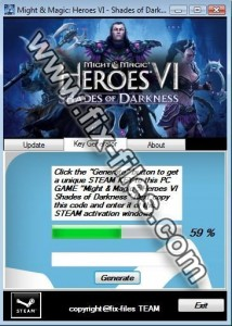 Heroes of might and magic 6 shadess of darkness key